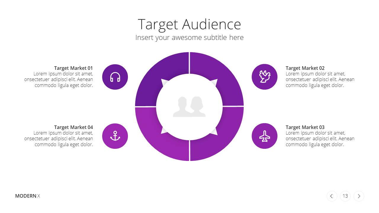 Modern X Digital Marketing Proposal Presentation Template Target Audience