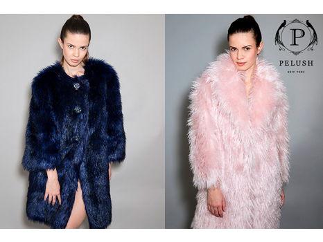 Vegan Chic!  Pelush Pink Faux Fur Jacket