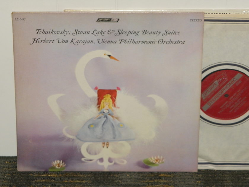 "Herbert Von Karajan/Vienna Philharmonic - Tchaikovsky ""Swan Lake""+""Sleeping Beauty"" London CS 6452 UK Decca 1W/1W matrix"