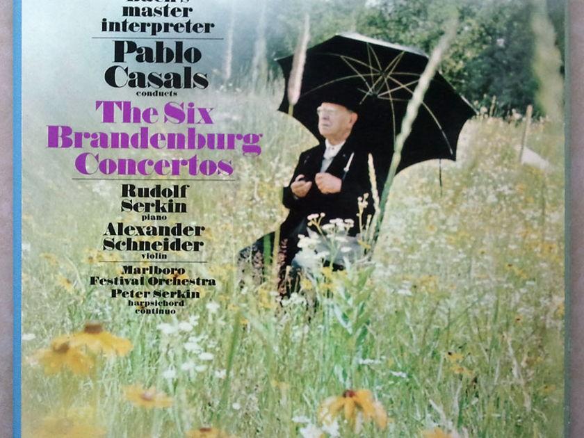 COLUMBIA 2-EYE/Casals/BACH - 6 Brandenburg Concertos & rehearsal / 3-LP / NM