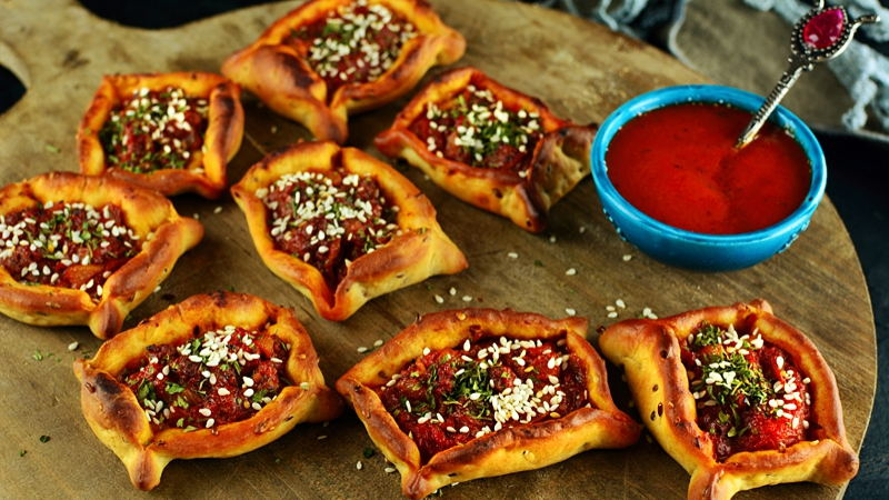 Sfeeha meat pies, Lebanon