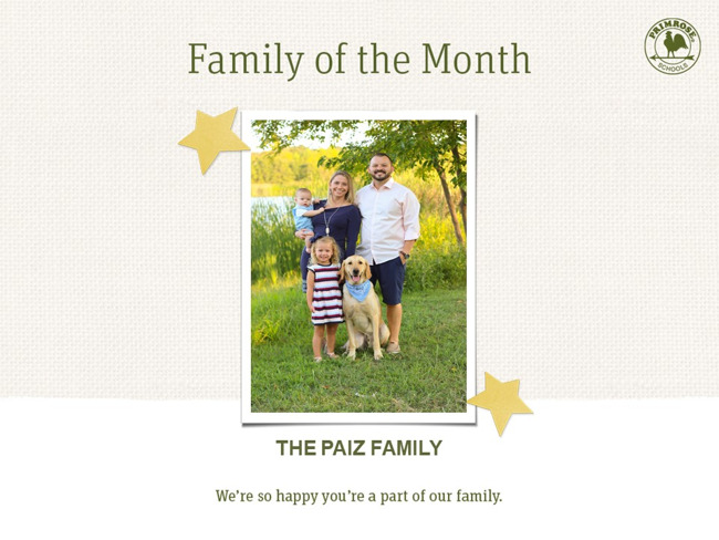Congratulations on being our December Family of the Month!