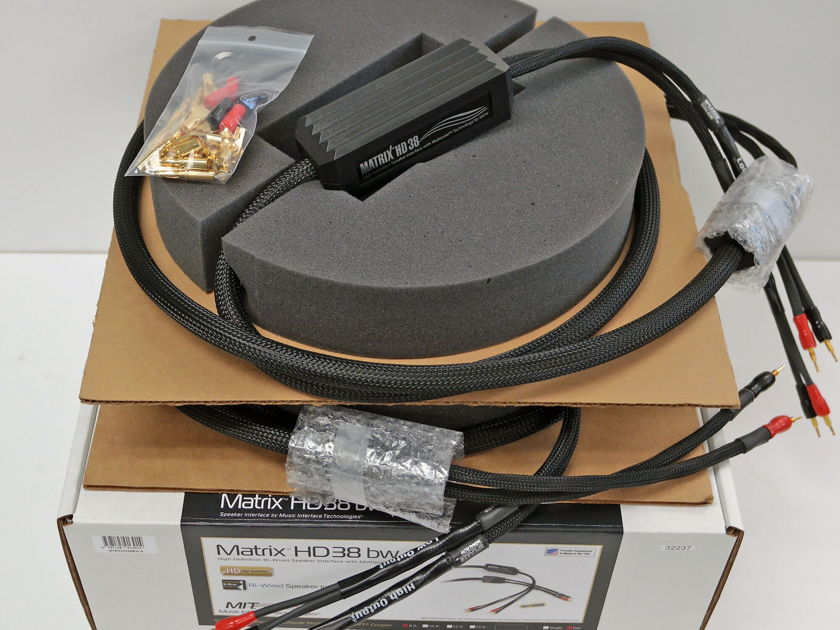 MIT Matrix HD 38 Bi-Wire  Speaker Cables 8ft pair