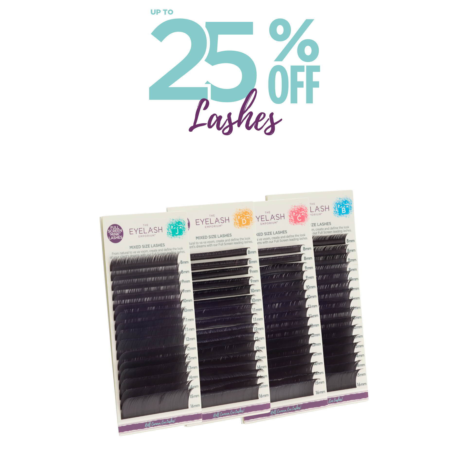 Up to 25% off lashes