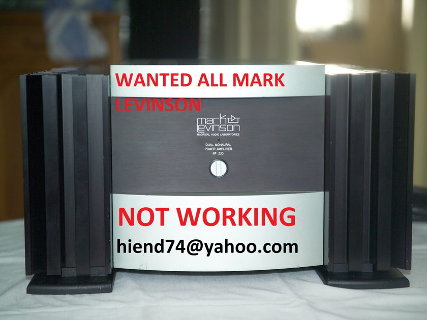 Mark levinson 390s 39 380s working or not working Wanted