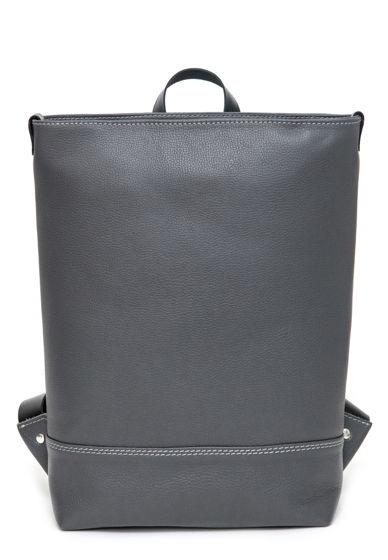 Кожаный серый городской рюкзак