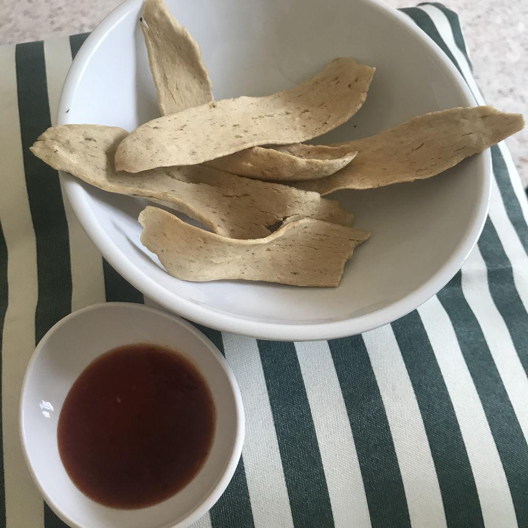 Keropok lekor as snacks! So delicious 🤤 👍🏻