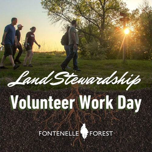 Picture of The volunteer Land Stewardship crew meets on selected Saturdays mornings to work on various projects.