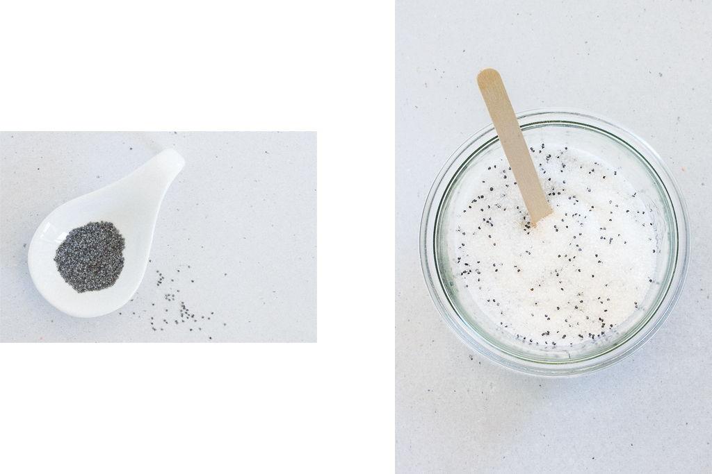 DIY Scrub Blaumohn Zucker