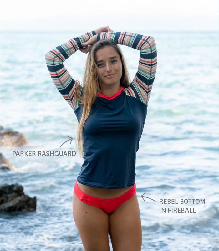 Get the Parker Rashguard in our SULUADA print!
