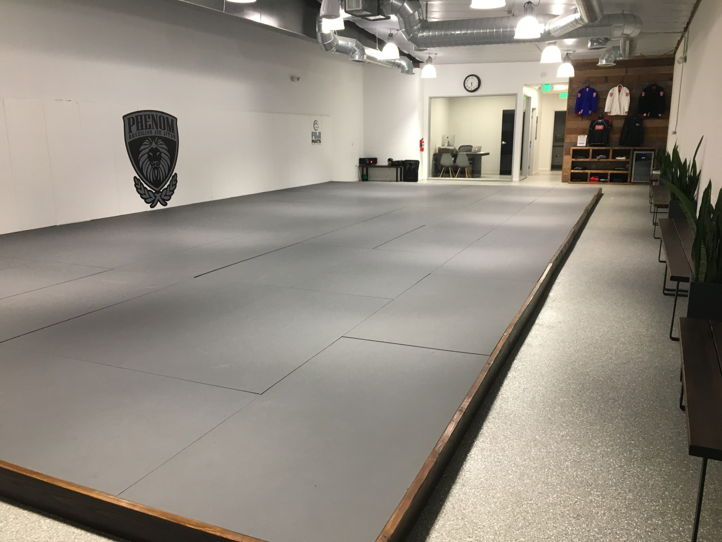 Perfect Mat Space for Yoga Clean Facility