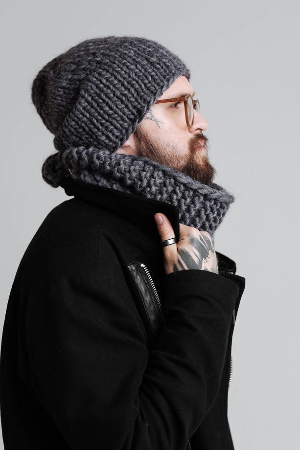 Объёмная шапка из шерсти
