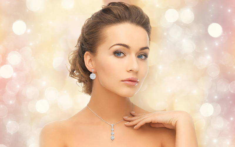 Professionall photos of you with your diamond jewelry