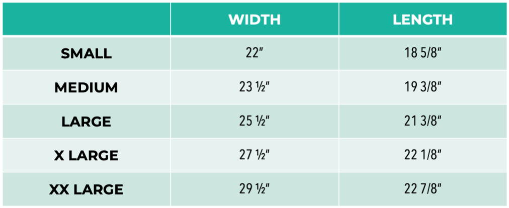 Pet It Forward Cropped Hoodie sizing chart