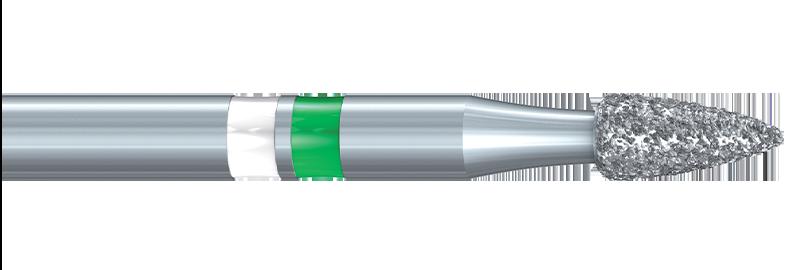 Komet® ZR6274 Round End Flame Ceramic Grinder Diamond Bur