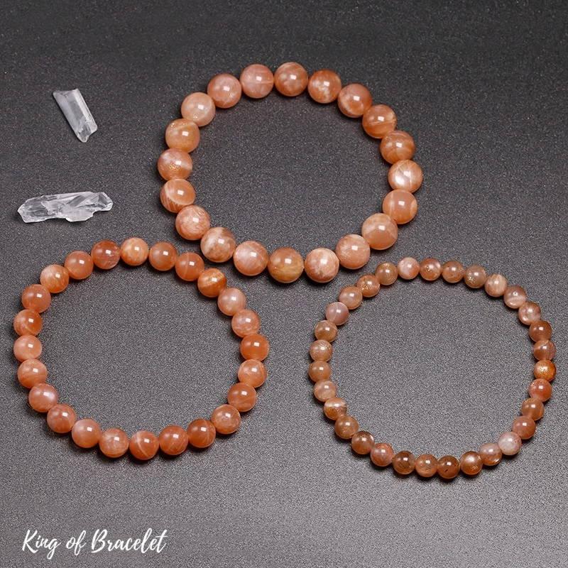 Bracelet de Lithothérapie en Pierre de Soleil - King of Bracelet