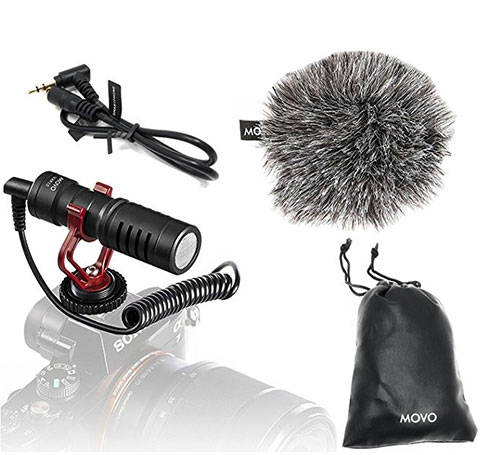 MOVO VXR10 Universal Cardioid Condenser Video Microphone