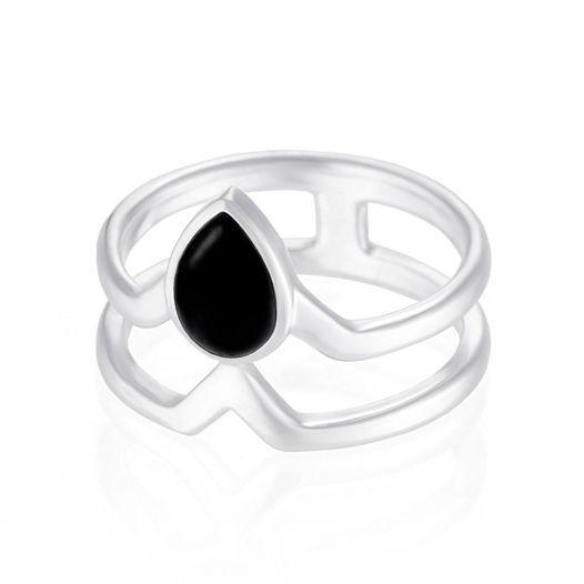Двойное кольцо Tethys - Черный оникс