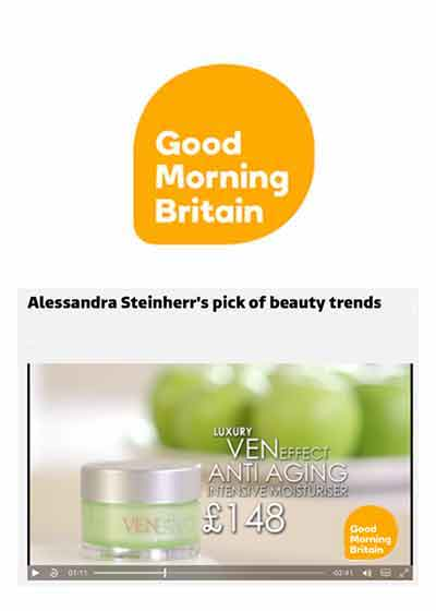 Beauty editor on UK show Good Morning Britain recommends VENeffect Skin Care