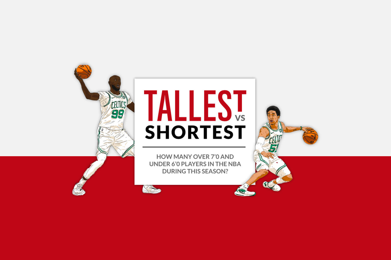 Tall vs Short NBA players (2021 INFOGRAPHIC)