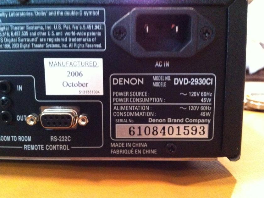 denon DVD-2930CI DVD/SACD PLAYER