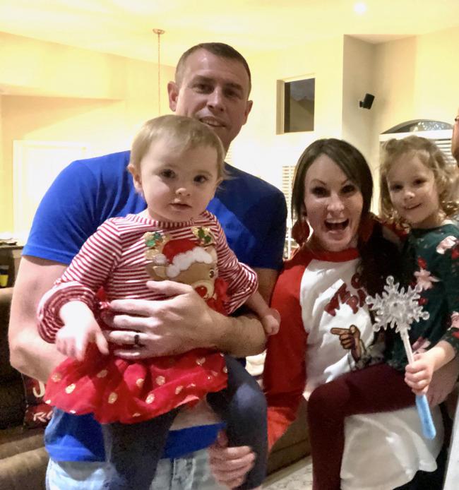 happy preschoolers with family