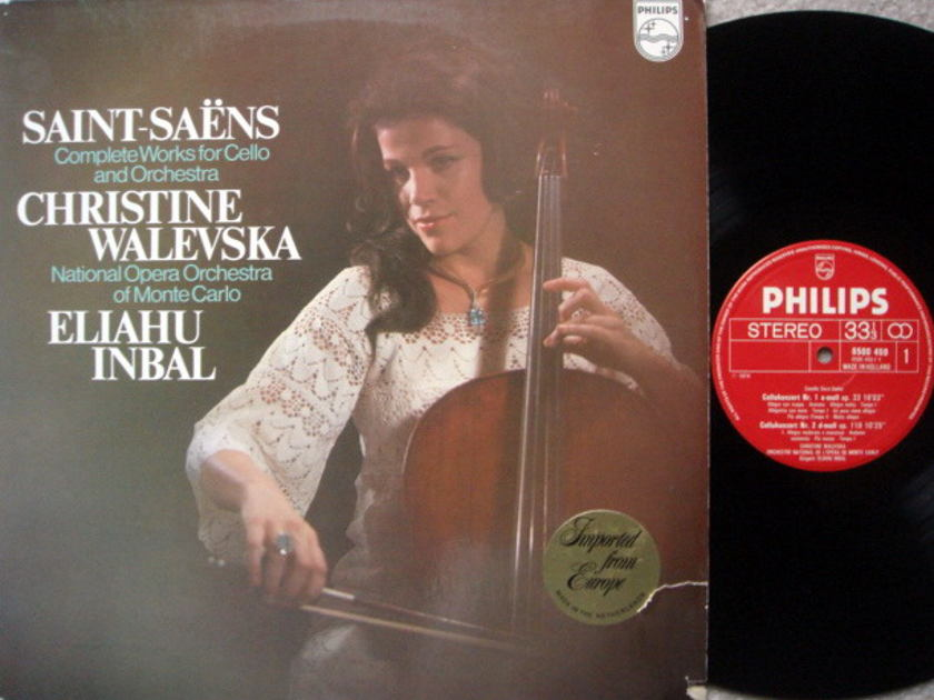Philips / WALEVSKA, - Saint-Saens Cello Concertos No.1 & 2, NM!