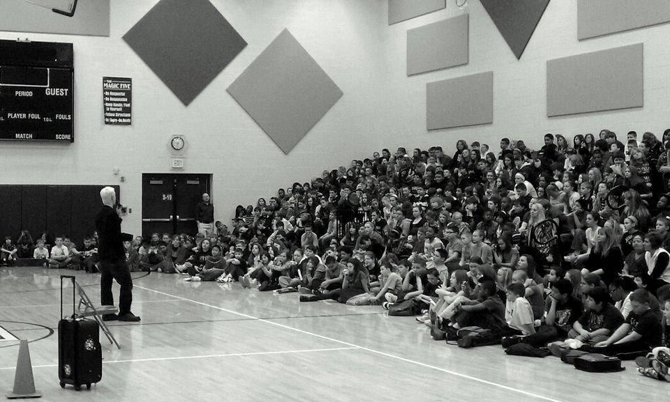 Doug Brown Teaching Delivering the Dream Big program to schools