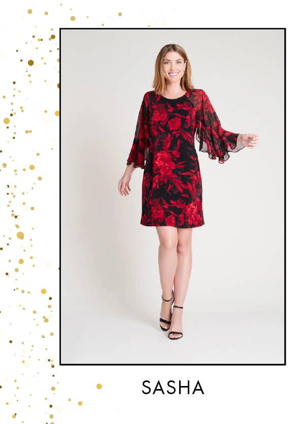 Shop Josie Red Floral Print Wrap Dress >