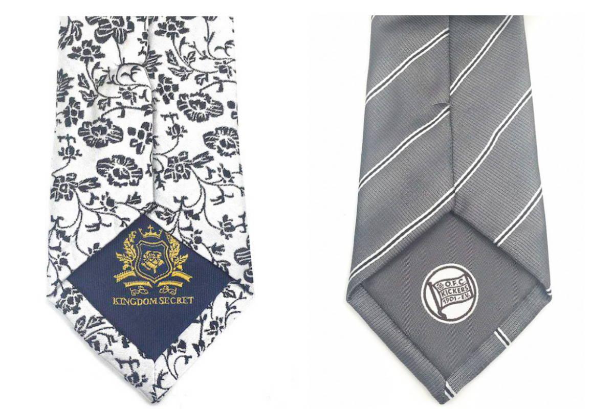 Logo at the Back Custom Necktie