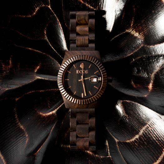 Часы мужские из черного сандала