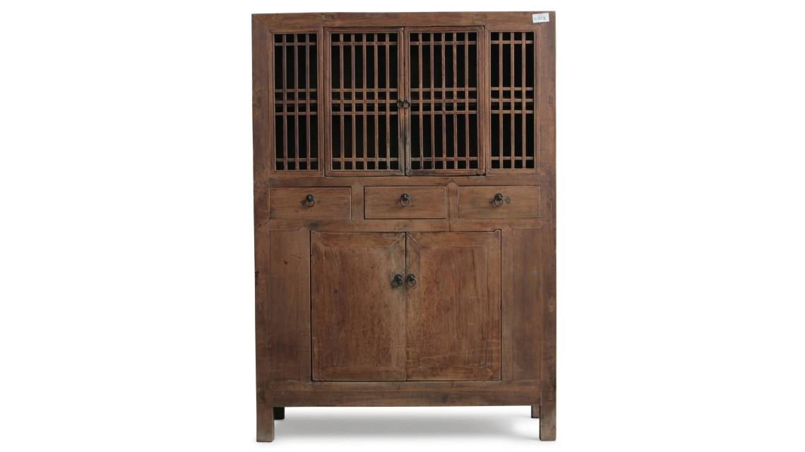 Shop all antique Chinese cabinets. A green lacquered reproduction tapered cabinet based on the classic Chinese Ming style design of tapered cabinet