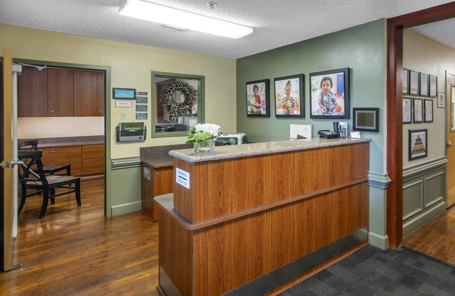 Parker Primrose school building contact desk
