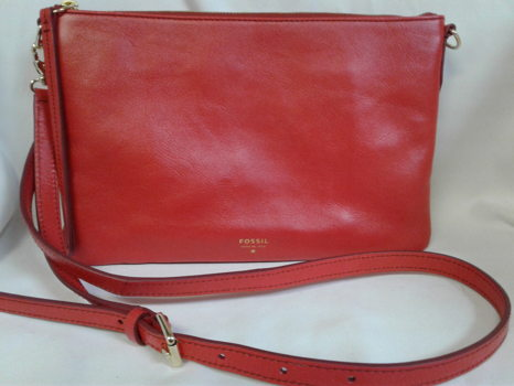 Fossil Red Crossbody