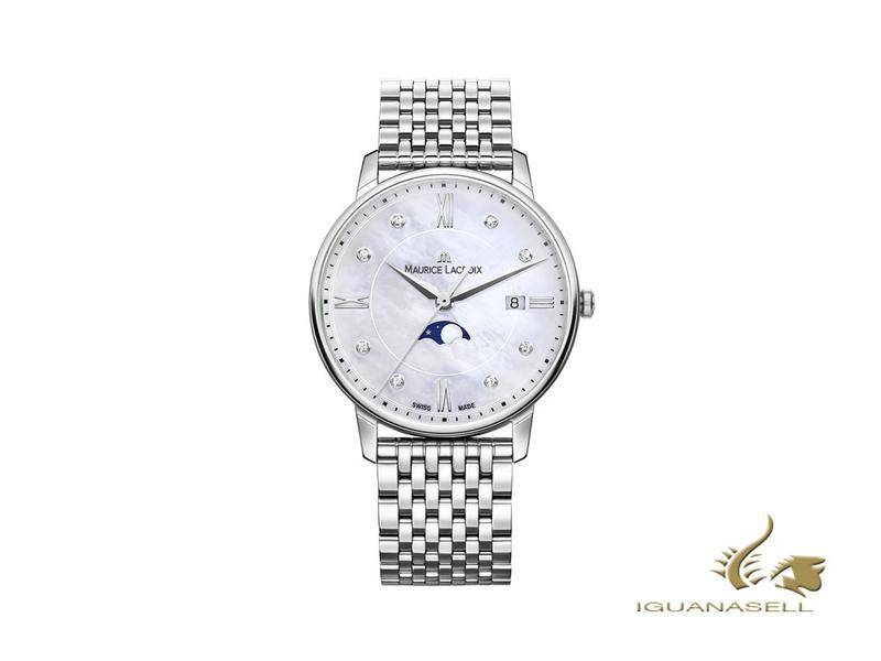 Maurice Lacroix Eliros Ladies Moonphase watch, blue, stainless steel strap