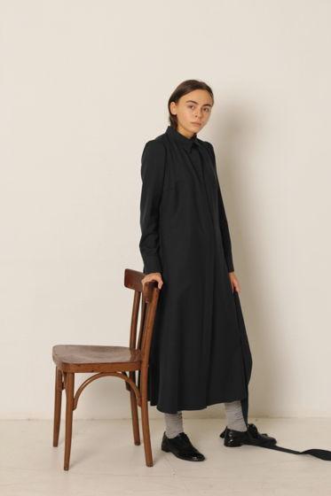 Платье-рубашка длина миди