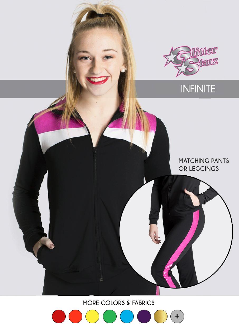 glitterstarz infinite warmup for cheer dance bling logo pink