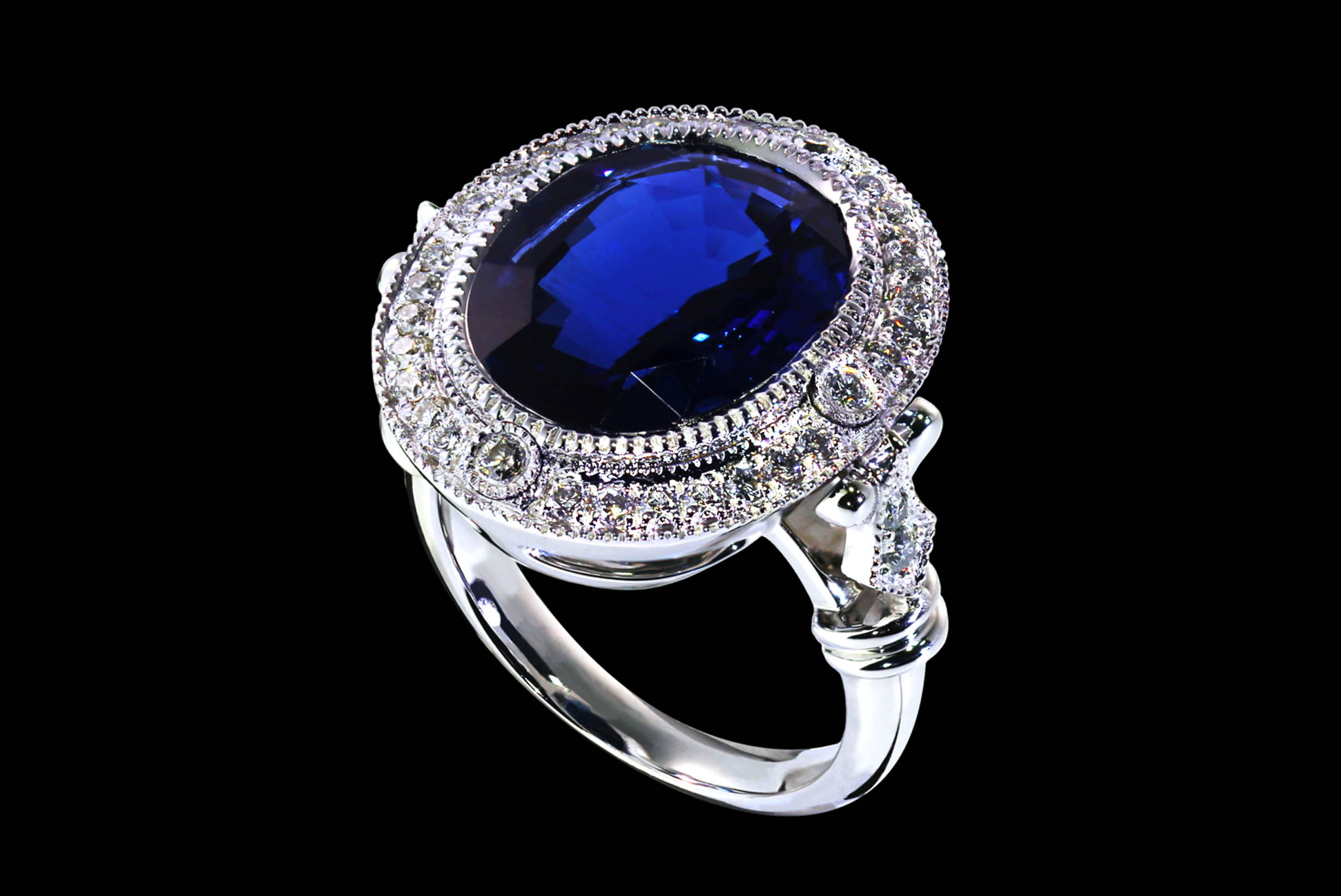 Deep Blue Sea Ring 45 degrees view