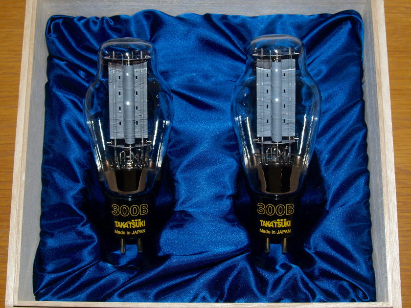 TAKATSUKI 300B tubes MATCHED PAIR These are the  gold standard for currently produced 300B's