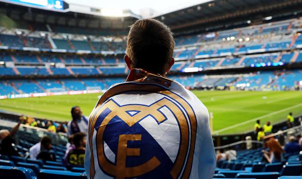 Мадрид + Стадион Сантьяго Бернабеу футбольного клуба Реал Мадрид