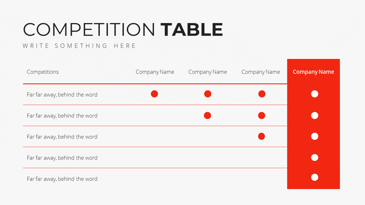 Minimal X Presentation Template Business Plan Competition Analysis