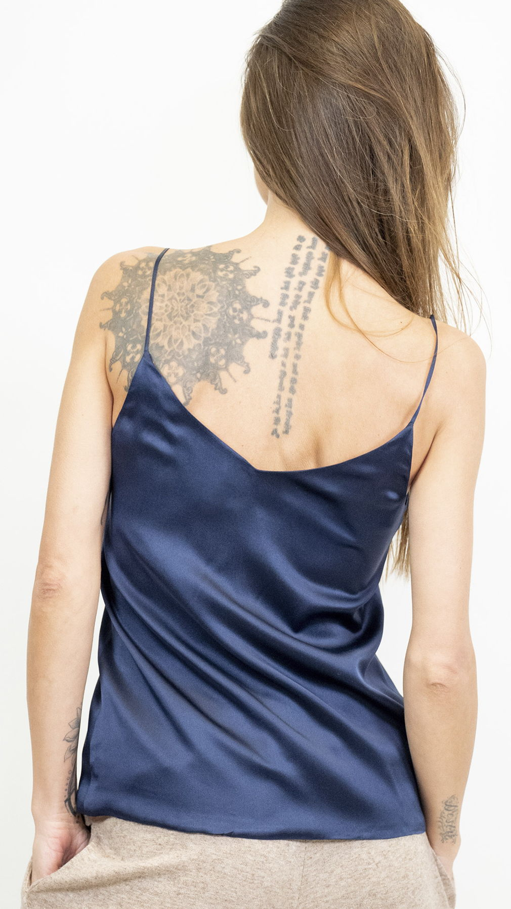 Blue Silk Tank