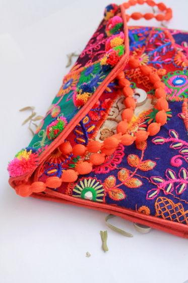 """Разноцветная сумочка-конверт """"Раджастан"""" ручной работы"""