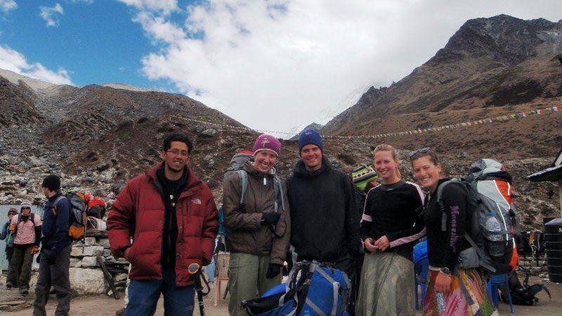 Group at Phakding, Nepal