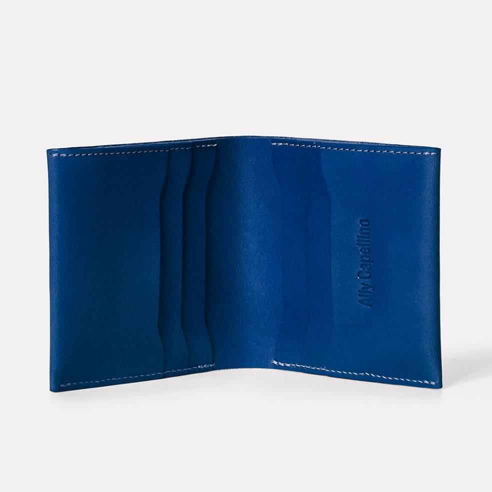 Oliver Leather Wallet in Blue Inside