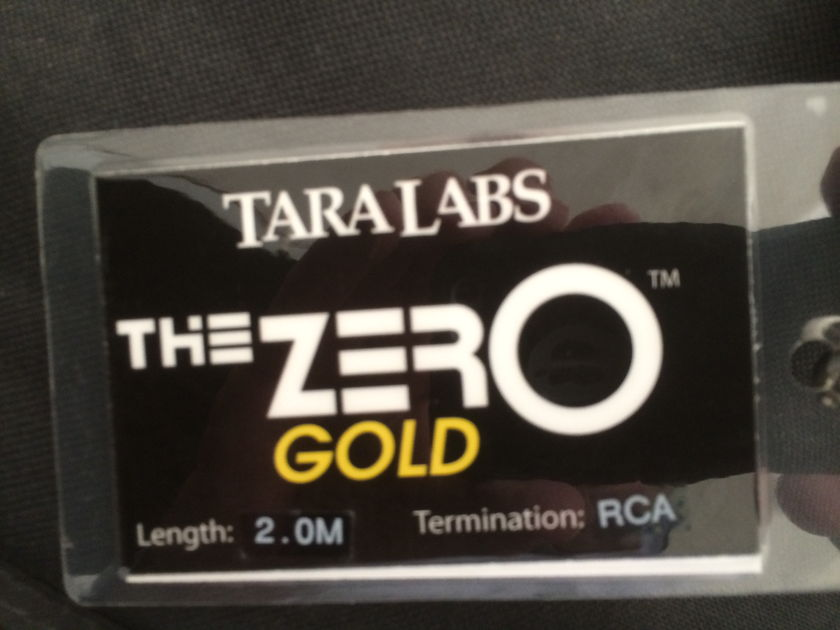 Tara Labs The Zero Gold 2.0m RCA Interconnects -  Rave Reviews!