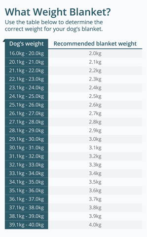 Choose the correct weight for a large dog