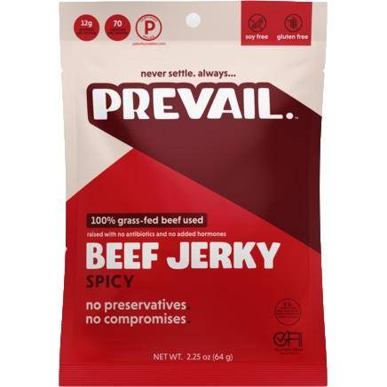 Prevail Grass-Fed Beef Jerky Spicy