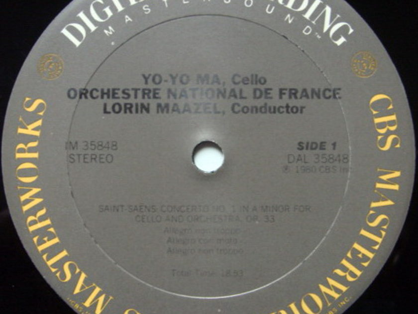 CBS Digital / YO-YO MA, - Lalo-Saint-Saens Cello Concertos, MINT!