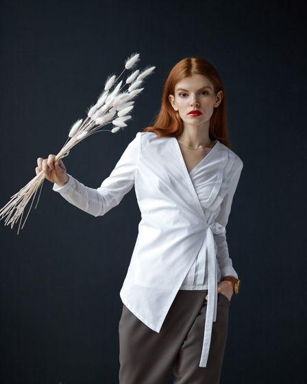 Рубашка-кимоно жен. 'Reflection' белая